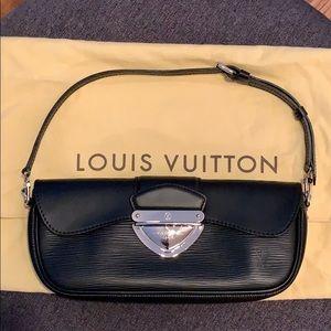 Louis Vuitton Epi Montaigne Clutch, Black/Silver